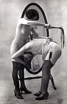 martinet spanking french postcard