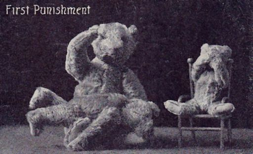 teddy bear gets spanked