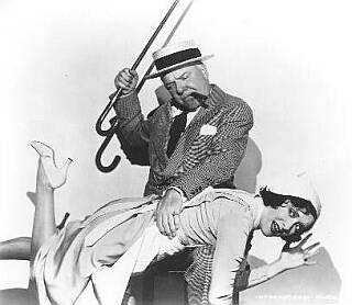 W.C. Fields spanking Gracie Allen