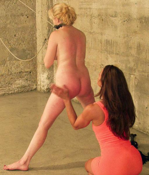 bondage blonde getting spanked