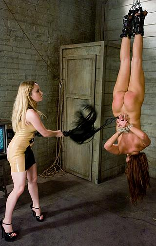 bad girl hung upside down and flogged
