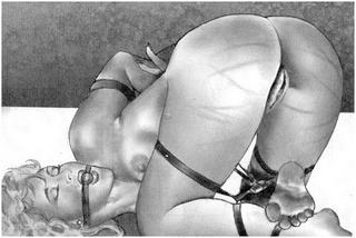 Lou Kagan whipped bondage heroine