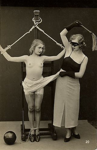 vintage bondage and whipping picture