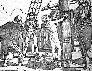 naked blonde tied to the mast and whipped by pirates