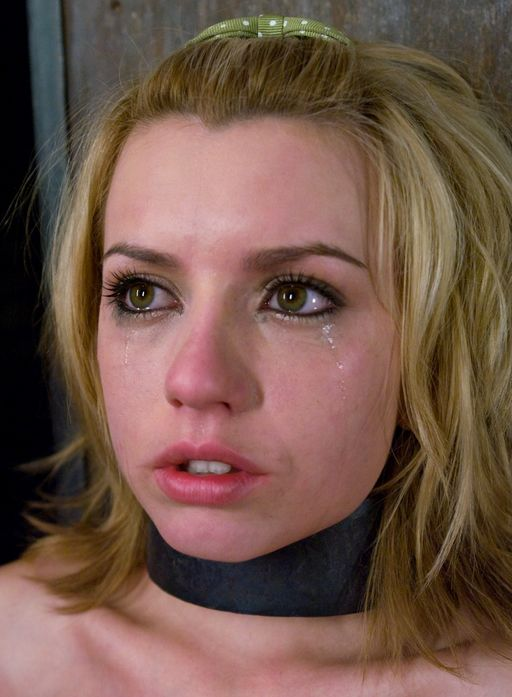 tearful girl in bondage