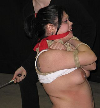 tied and caned hard