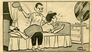 wife spanking cartoon in Chicago newspaper
