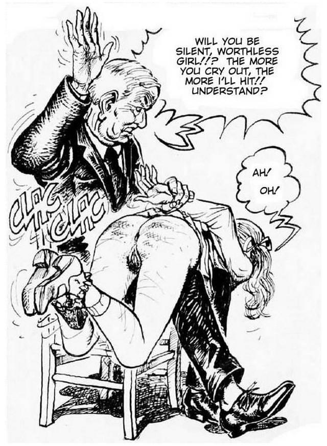 Adult comics spank